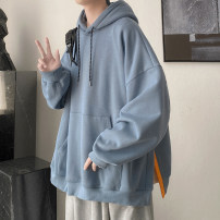 Sweater Youth fashion Zijun Purple, black, green, gray, haze blue, > Click to view the size < (select the color in front) M,L,XL Solid color Socket routine Hood spring easy leisure time teenagers like a breath of fresh air routine No iron treatment Kangaroo pocket