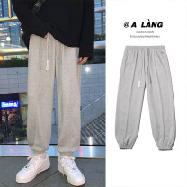 Casual pants Zijun Youth fashion Gray, black, gray plush, black plush, > Click to view the size < (select color in front) M,L,XL,2XL routine trousers Other leisure easy Micro bomb autumn teenagers tide 2020 Medium low back Little feet other other Domestic non famous brands