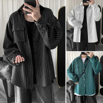 shirt Youth fashion Zijun M,L,XL routine Pointed collar (regular) Long sleeves easy Other leisure spring teenagers tide 2020 stripe No iron treatment other