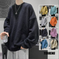 T-shirt / sweater Zijun Youth fashion Black, apricot, gray, yellow, blue, lake blue, pink, orange, > Click to view size < (select color in front) M,L,XL,2XL routine Socket Crew neck Long sleeves autumn easy 2020 leisure time tide youth routine Solid color No iron treatment