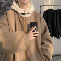 cotton-padded clothes Khaki, black, > Click to view size < (select color before) Zijun M,L,XL Youth fashion routine routine easy Other leisure Hood teenagers zipper tide Cloth hem Solid color Side seam pocket pocket No iron treatment polyester fiber