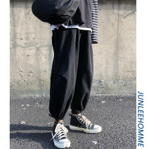 Casual pants Zijun Youth fashion Gray, black, khaki, gray plush, black plush, > Click to view size < (select color above) S,M,L,XL,2XL,3XL,4XL Ninth pants Other leisure easy Micro bomb winter teenagers tide 2019 Medium low back Little feet Overalls