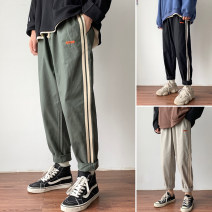 Casual pants Zijun Youth fashion Green, black, khaki, > Click to view size < (select color in front) M,L,XL,2XL routine trousers Other leisure easy Micro bomb autumn teenagers tide 2020 Straight cylinder