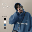 Sweater Youth fashion Zijun Black, gray, white, blue, > Click to view size < (select color in front) M,L,XL,2XL letter Socket Plush Hood autumn easy leisure time teenagers tide routine cotton printing No iron treatment Kangaroo pocket Japanese and Korean style