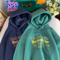 Sweater Youth fashion Zijun White, green, dark blue, > Click to view size < (select color in front) M,L,XL,2XL letter Socket routine Hood spring easy leisure time teenagers like a breath of fresh air routine printing Kangaroo pocket Oblique lapel