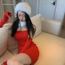 Wool knitwear Winter 2020 Average size Skirt, white fur collar Long sleeves singleton  Socket other 91% (including) - 95% (excluding) Medium length routine commute Self cultivation other routine Solid color Socket Korean version 18-24 years old