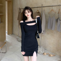 Dress Winter 2020 Black, pink Average size
