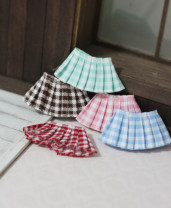 BJD doll zone Dress 1/12 Over 14 years old goods in stock Green grid, pink grid, red grid, blue grid, brown grid Ob11, Co poche, 8 BJD, others, please consult