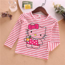 T-shirt Red, white, yellow, pink, black, pink, light blue, red Other / other 90cm,100cm,110cm,120cm,130cm,140cm female No season Long sleeves Crew neck Cartoon Official pictures nothing cotton stripe Cotton 100% MMQ striped autumn T01 milk tea cat Class A other Chinese Mainland Guangdong Province