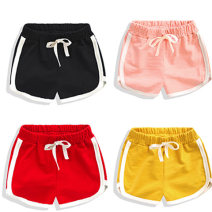 trousers Xiaotiaowa neutral 90cm,100cm,110cm,120cm,130cm,140cm,150cm,160cm Black, red, gray, pink, yellow, blue, orange, light green summer shorts Beach pants Pure cotton (100% content) Cotton 100% Chinese Mainland