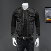 Jacket Other / other Youth fashion black M,L,XL,2XL,3XL,4XL,5XL routine Self cultivation Other leisure spring Long sleeves Wear out Baseball collar Youthful vigor youth routine Zipper placket 2021 Rib hem washing Closing sleeve Solid color corduroy Rib bottom pendulum Side seam pocket