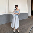 skirt Spring 2021 S,M,L White. Black Q210402 high waist over knee umbrella skirt