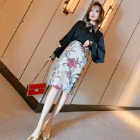 Fashion suit Spring 2021 XS,S,M,L,XL,2XL,3XL Black + Decor miuco T2376S1002