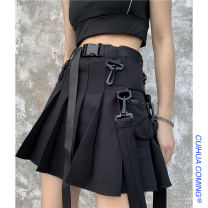 skirt Summer 2021 S,M,L Gray, black Short skirt commute High waist Pleated skirt Solid color Type A 18-24 years old 91% (inclusive) - 95% (inclusive) other Other / other other pocket Korean version