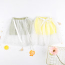 skirt Green, yellow Other / other female Cotton 65% polyethylene terephthalate (polyester) 35% summer skirt princess other Cotton blended fabric