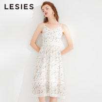 Dress Summer 2020 96 decors 155/80A 160/84A 165/88A 170/92A Mid length dress singleton  Sleeveless commute V-neck other Socket Princess Dress other Others 25-29 years old Type X Lesies / blue lady LS506806 More than 95% other polyester fiber Polyester 100%