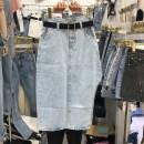 skirt Summer 2021 S,M,L,XL blue Mid length dress High waist Irregular Solid color 31% (inclusive) - 50% (inclusive) Denim