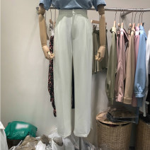 Casual pants White, black S, M Summer 2021 trousers Wide leg pants High waist routine 31% (inclusive) - 50% (inclusive)