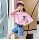 suit Other / other 110cm,120cm,130cm,140cm,150cm,160cm female summer leisure time Short sleeve + pants 2 pieces routine There are models in the real shooting Socket Class B Other 100% Chinese Mainland Zhejiang Province Huzhou City