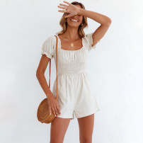 Jumpsuit / pants 31% (inclusive) - 50% (inclusive) shorts cotton middle-waisted street Picture color S,M,L,XL routine Summer 2021 Straight cylinder