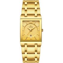 quartz watch calendar male Wrist watch   men's   watches   man   golden   wrist watch   watch