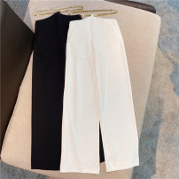 Casual pants White, black S,M,L Summer 2021 trousers Wide leg pants Natural waist commute Thin money 25-29 years old 51% (inclusive) - 70% (inclusive) other polyester fiber