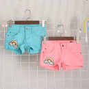 trousers Vellmentto / valmonto female Pink, sky blue summer shorts Europe and America No model Jeans Button / zipper middle-waisted Denim Don't open the crotch Class B