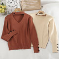 Wool knitwear Autumn 2020 Average size Apricot , black , white , Rust red Long sleeves singleton  Socket other 30% and below have cash less than that is registered in the accounts routine commute Self cultivation routine Solid color Socket Korean version 18-24 years old