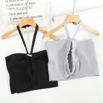 Vest sling Spring 2021 Black, gray, white Average size singleton  have cash less than that is registered in the accounts Self cultivation Hanging neck style Solid color 18-24 years old 30% and below