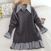 Fashion suit Autumn 2020 Average size Grey, black, brown 18-25 years old 30% and below