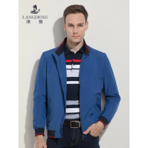Jacket Langdeng Fashion City (blue) (light green) M L XL XXL XXXL routine Self cultivation Other leisure autumn K4089 Polyester 100% Long sleeves Wear out stand collar Business Casual youth routine Zipper placket Rib hem Closing sleeve Solid color polyester fiber Autumn of 2019 More than two bags)