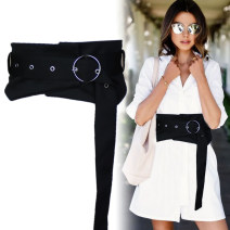 Belt / belt / chain cloth Black small (60-75CM), denim small (60-75CM), black large (70-85cm), denim large (70-85cm), denim black small (60-75CM), denim black large (70-85cm) female Waistband Versatile Single loop Youth, youth, middle age Pin buckle Round buckle soft surface 15cm alloy 100 waist cool