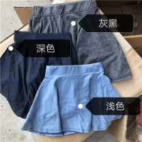 skirt 8 for 116-124, 10 for 124-133, 12 for 133-142, 14 for 142-151, 6 for 108-116 Light, dark Other / other female Cotton 100% summer skirt leisure time Solid color Denim skirt cotton Class A