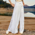 Casual pants The sky is white and the night is black S M L Summer 2020 trousers Wide leg pants Natural waist original Thin money 25-29 years old 96% and above J01K120 Jn / JW / in and out of bounds Cellulose acetate Sticking cloth Viscose Viscose (viscose) 100% Asymmetry