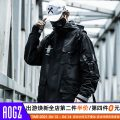 Jacket AOGZ Youth fashion Black, khaki, black with cotton w188 /, Black Multi mouth bag w108/ M,L,XL,2XL Plush and thicken easy Other leisure Spring and Autumn Long sleeves Wear out Hood tide youth routine Zipper placket 2021 Cloth hem No iron treatment Loose cuff Solid color polyester fiber