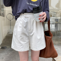 Casual pants Apricot, black, grey Average size Autumn 2020 shorts Straight pants High waist commute routine 25-29 years old 30% and below Other / other other Korean version fold