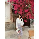 skirt Summer 2021 XS,S,M,L Middle-skirt commute High waist A-line skirt Broken flowers Type A 18-24 years old 71% (inclusive) - 80% (inclusive) other Other / other other Korean version