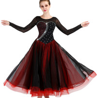 Modern dance suit (including performance clothes) Happy Charm Waltz, tango, Foxtrot, trot female Black, black with red S,M,L,XL,XXL other MQ081