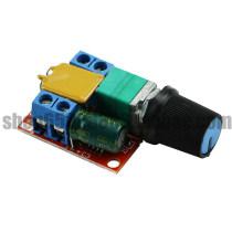 Mini dc motor PWM speed regulator 3v6122435v speed regulating switch super small LED dimmer 5A