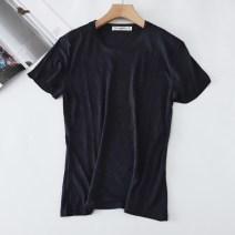 T-shirt Navy Blue S,M,L Summer 2021 Short sleeve Crew neck Straight cylinder Regular routine commute cotton 86% (inclusive) -95% (inclusive) originality printing