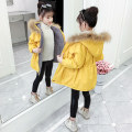 Cotton padded clothes 110, 120, 130, 140, 150, 160 Winter 2020 Other / other Medium length Long sleeves thickening zipper commute Hood routine Self cultivation Solid color Korean version 91% (inclusive) - 95% (inclusive) cotton Under 17