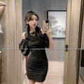 Dress Spring 2021 Black, gray S,M,L Short skirt singleton  Short sleeve commute V-neck High waist Solid color Single breasted A-line skirt other Others 18-24 years old Type A LADIES FIRST Korean version D3208 51% (inclusive) - 70% (inclusive) other polyester fiber