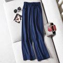Casual pants Apricot, white, blue, black S,M,L,XL,2XL,3XL,4XL Summer 2020 trousers Wide leg pants High waist commute routine Korean version