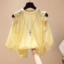 Lace / Chiffon Summer 2020 Yellow, white, orange, one jacket or trousers S. M, l, XL, 2XL, starting batch of more than 500 pieces Short sleeve commute Socket singleton  easy Regular Crew neck Solid color other Other / other Korean version 31% (inclusive) - 50% (inclusive)