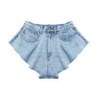 Jeans Summer 2020 Light blue S,L,M Super shorts Natural waist Wide legged trousers Thin money 25-29 years old Old, white, washed other light colour 81% (inclusive) - 90% (inclusive)