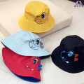 Hat Average size Yellow red blue black 48-50cm (1-3 years old) neutral Fisherman hat flat roof leisure time CN- HTT.XD Big eaves Cotton blended fabric
