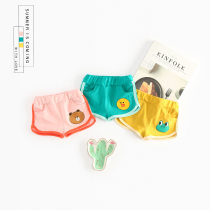trousers Small left small right neutral 66cm 73cm 80cm 90cm 100cm Yellow green pink summer shorts Korean version No model Leather belt middle-waisted