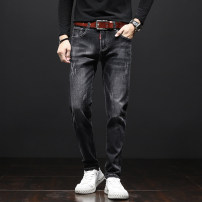 Jeans Youth fashion Others 28 (2.16 feet), 29 (2.23 feet), 30 (2.31 feet), 31 (2.39 feet), 32 (2.46 feet), 33 (2.54 feet), 34 (2.62 feet), 36 (2.77 feet), 38 (2.92 feet) black routine Micro bomb Regular denim trousers motion Cotton 74% polyester 23% others 3% Four seasons youth middle-waisted tide