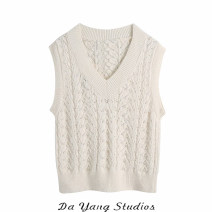 Wool knitwear Spring 2021 S,M,L Benbai Sleeveless singleton  Socket other 51% (inclusive) - 70% (inclusive) Regular routine Sweet easy V-neck routine Solid color Socket 18-24 years old Ruili