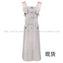 Dress Autumn of 2019 Plaid spot XS,S,M,L Mid length dress singleton  Sleeveless street High waist lattice A-line skirt camisole Type H 81% (inclusive) - 90% (inclusive) other other Europe and America